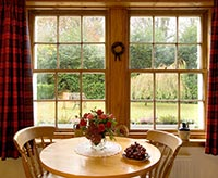 View through a window from one of The Gardeners Cottages, Loch Lomond